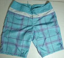 *NWT* THE NORTH FACE WOMENS TEENS LIGHT BLUE PLAID SHORTS SIZE 6 D136 BB A1