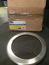 CFL DOWNLIGHT 203mm BRUSHED ALUMINIUM TRIM RING