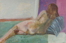 C. Smith - Mid 20th Century Oil, Nude from Behind