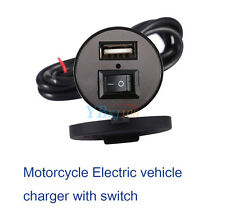 Motorcycle USB GPS Mobile Phone Power Supply Charger Port Socket 12V Waterproof