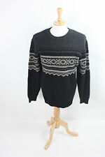 HA-23 EDDIE BAUER Lambs Wool Warm Comfortable Sweater XL Gray Cosy