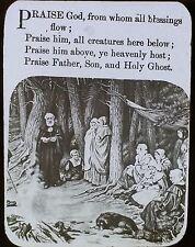 """""""Praise God, From Whom All Blessings Flow"""", Hymn, Magic Lantern Glass Slide"""