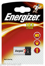 6 x Energizer CR123A CR 123 A K123LA 3V CR17345 Photo Batterie Lithum Foto