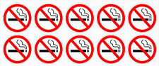 "NO SMOKING Decals BULK white 1.5""dia stickers outdoor durable business signs"