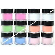 12 MIA SECRET NAIL ART ACRYLIC POWDER NEON GLOW IN THE DARK  12GLOWPOWDER-MIA