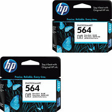 2-pack GENUINE HP 564 CB317WN Photo Black Ink Cartridge PhotoSmart B8550 B8553