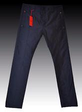 NEW HUGO BOSS Shiny Blue Metallic Silk Dress Pants Trousers Pantalon 32R 48