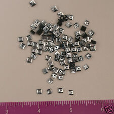 Vintage 1930's French Sequins Squares Metallic Gun Metal 4mm