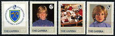 Gambia 1982 SG#476-9 Princess Of Wales 21st Birthday MNH Set #D38246