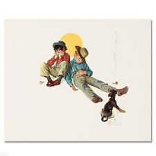 """""""Disastrous Daring"""" Numbered LIMITED EDITION Lithograph Norman Rockwell 584/2000"""