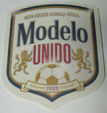 MODELO UNIDO BEER SOCCER CERVEZA FUTBOL Beer Coaster, Mat with Lions, MEXICO