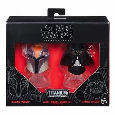 SABINE WREN & DARTH VADER DIE-CAST HELMETS STAR WARS BLACK SERIES TITANIUM #08