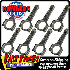 """HOWARD'S GM Chevy LS 6.125"""" Forged Billet Connecting Rods 12-pt ARP2000 Bolts"""