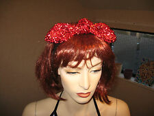 New COOL Party Red Sparkly large Bow Headband,Punk,Rock,Fairy,Christmas Gift