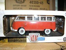 K12  40300 45 M2 AUTO THENTICS 1960 VW MICROBUS DELUXE USA  VAN BUS MICRO 1/24