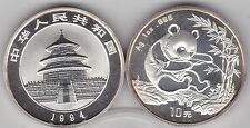 1994 CHINA SILVER 10 YUAN ONE OUNCE PANDA IN MINT CONDITION WITH CAPSULE