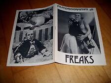 Filmprogramm Nr. 48  Freaks  WALLACE FORD