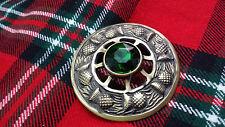 TC Spilla Per Fly Plaid Kilt Design Cardo Verde Grigio sabbia Antico/Highland