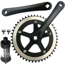 Alloy Fixie Single Speed Crankset With BB 48 Teeth 170mm Black