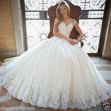 New Custom White/Ivory lace Bridal Gown Wedding Dress Size 6 8 10 12 14 16 +++