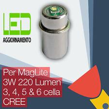 MagLite LED Aggiornamento/Conversione lampadina Torcia 3D/3C, 4D/4C, 5/6D Cella