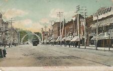 Franklin PA * Liberty St. 1908  Trolley & Arch * Venango Co.