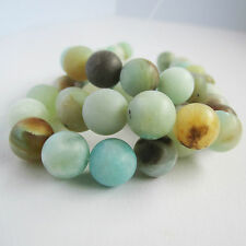 40cm strand of 10mm amazonite round natural green aqua brown beads