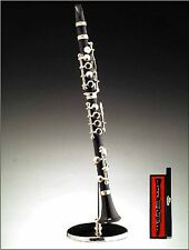 Miniature Musical Instrument  Black Clarinet w/ Stand & Case (CBCL) 6.25""