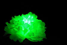 3 Light-up Green LED Clips, Pin for Hair, Glow in Dark, Giveaway, St Pattys, 420