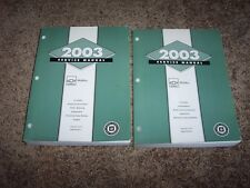 2003 Chevy Chevrolet Malibu Factory Workshop Shop Service Repair Manual Set 1-2