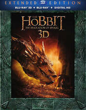 The Hobbit: The Desolation of Smaug (Blu-ray Disc, 2014, UltraViolet 3D/2D) NEW