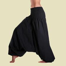 Women Stylish Pure Rayon Black Color Harem Pants Alladin Trousers Baggy Hippie