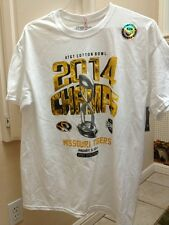 At&T 2014 Cotton Bowl Champs Missouri Tigers Tee Shirt NWT Size Large