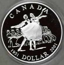 2001 Canada 92.5% Silver Proof Dollar UNCIRCULATED Coin National Ballet