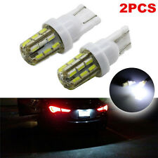 2x Xenon White 24-SMD T10 168 194 2825 LED Bulbs For Car License Plate Lights