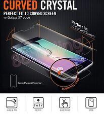 2 x full incurvé coupe protecteur d'écran + retour housse gel pour Samsung Galaxy S7 EDGE