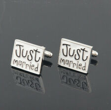 Creative 'JUST Married' bride groom Cufflinks Wedding Party gifts Cuff link