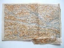 antica mappa antique old print map VILLACH TOLMEZZO AMPEZZO LIENZ CAVAZZO 1911