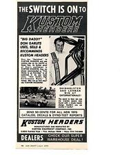 1970 DON GARLITS AA/FD  ~  NICE ORIGINAL KUSTOM HEADER AD