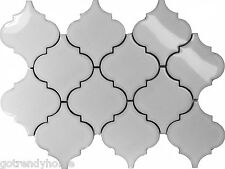 Sample White Porcelain Moroccan Pattern Mosaic Tile Kitchen Backsplash Shower