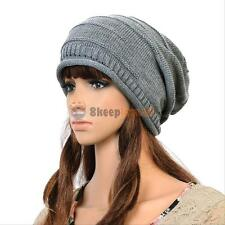 Hot! Unisex Winter Ski Knitted Crochet Baggy Women Men Warm Beanie Hat Cap Beret