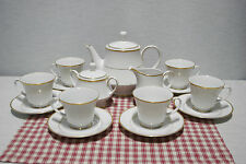 Noritake HERITAGE (2982) Teapot, Creamer, Covered Sugar 6 Cups and Saucers Mint!