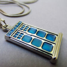 Doctor Who Blue Police Box Tardis European Bead Pendant 31mm For Charm Necklaces