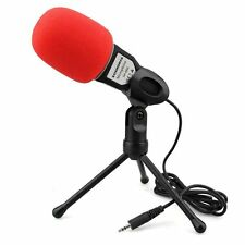 3.5mm Condenser Sound Podcast Studio Mic Microphone For PC Laptop Skype MSN