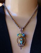 Olipop Necklace by Sweet Romance Day of the Dead Skull Pendant Rhinestone Chain