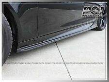 3D Style Carbon Fiber Side Skirts Extension Lip 12-16 BMW F10 5-Series M5 Only