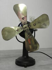 old fan Electric table iron retro art deco vintage machine age desk ventilator