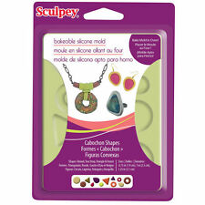 Sculpey Cabachon Shapes   Bakeable Silicone mold  NIP