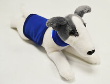 Greyhound Wearing a BLUE Coat and Collar - Soft Toy