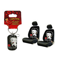 New Classic Betty Boop Timeless Car Truck Front Seat Covers Key-Chain